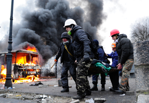 Violence Escalates As Kiev Protests Continue